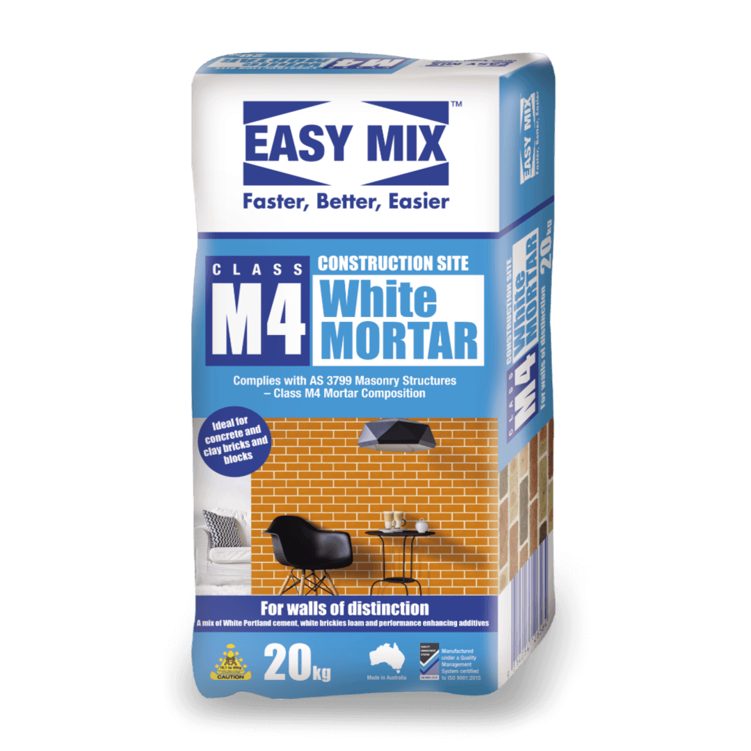 Easy Mix M4 Construction Site White Mortar