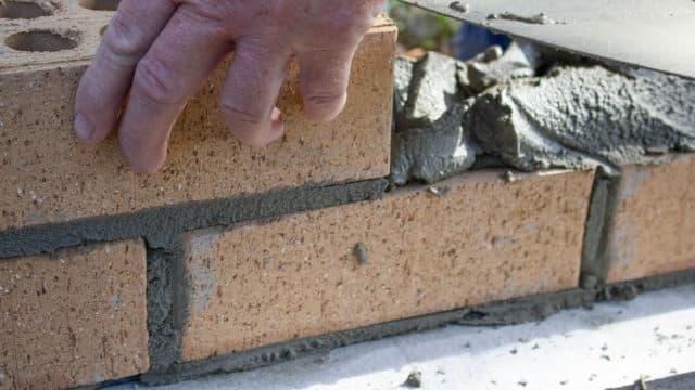 How to build a brick or block wall