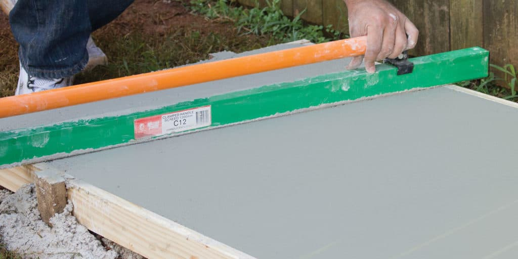 How to lay a concrete slab
